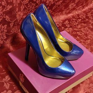 Fergie Bunny heels in sapphire